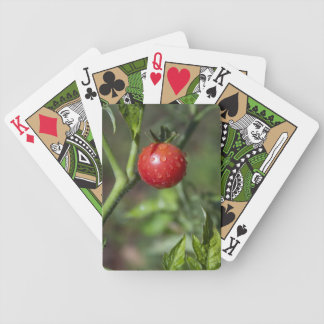 Red Cherry Tomato Poker Deck