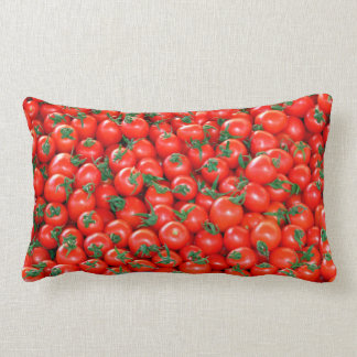 Red Cherry Tomatoes Pattern Lumbar Cushion