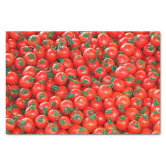 Red Cherry Tomatoes Pattern Tissue Paper