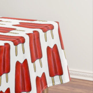 Red Cherry Twin Pop Popsicle Ice Lolly Summer Food Tablecloth