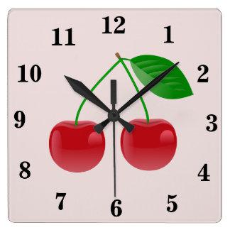 Red Cherry Wall Clock