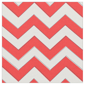 Red Chevron Fabric, Nautical Chevron Fabric