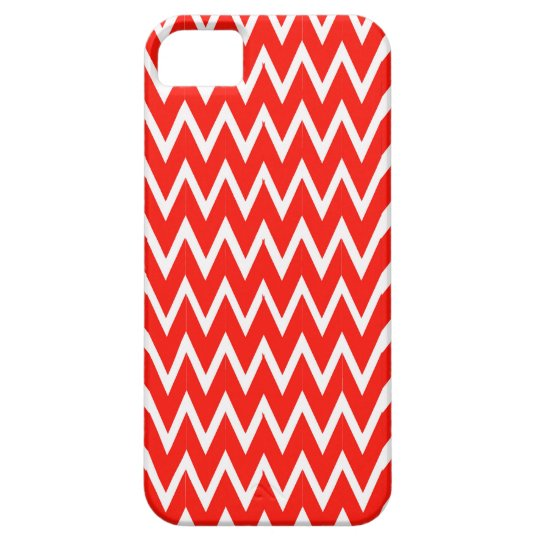 Red Chevron Illusion Case For The iPhone 5