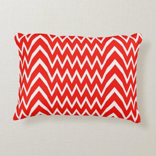 Red Chevron Illusion Decorative Cushion