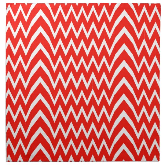 Red Chevron Illusion Napkin