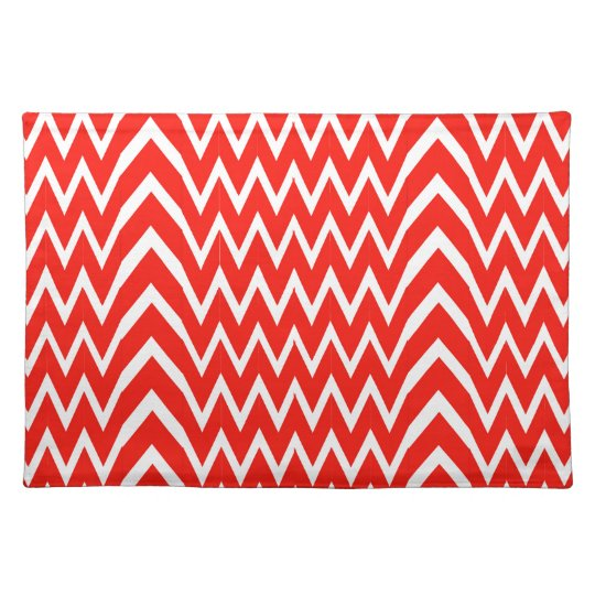 Red Chevron Illusion Placemat