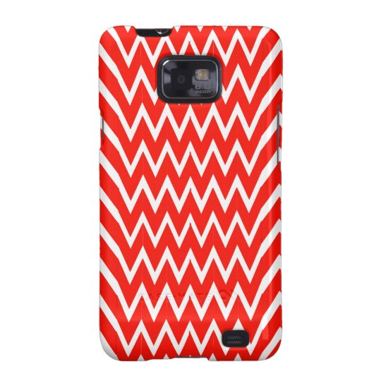 Red Chevron Illusion Samsung Galaxy SII Covers