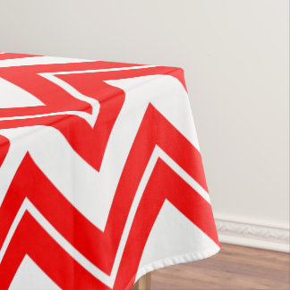 Red Chevron Print Tablecloth
