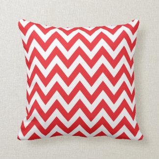 Red Chevron Zigzag Stripe Pattern Cushions