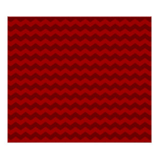 Red chevrons poster