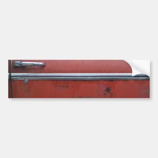 Red Chevy silver trim Bumper Sticker