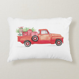 Red Chevy Truck Pillow