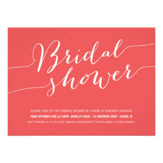 Red Chic Bridal Shower Invitations