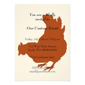 Red Chicken Hen Announcement