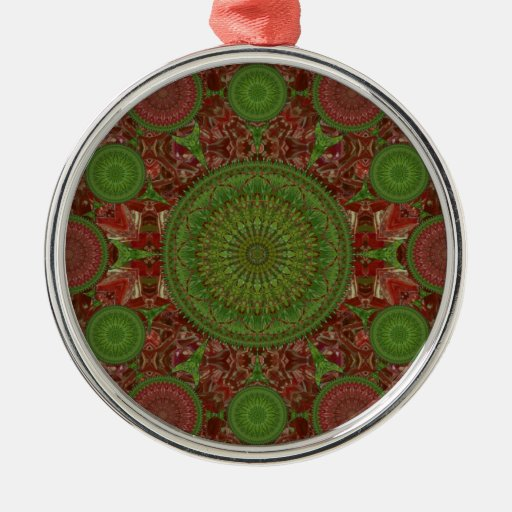 Red Chile Christmas Mandala Array Ornament