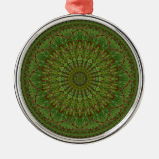 Red Chile Christmas Mandala Ornament