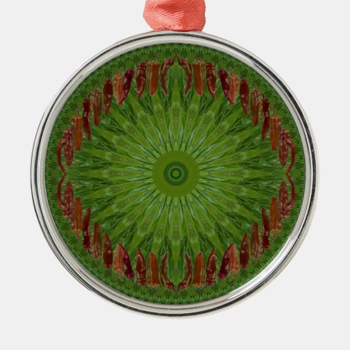 Red Chile Christmas Wreath Ornament