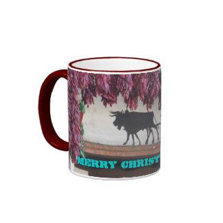 Red Chili Christmas Ringer Mug