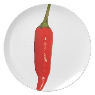 Red Chili Pepper Dinner Plate