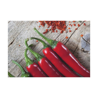 Red Chili Pepper Stretched Canvas Print