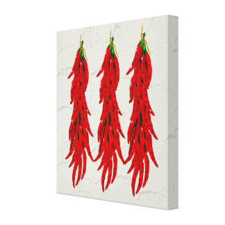 Red Chili Peppers Kitchen Art Canvas Print