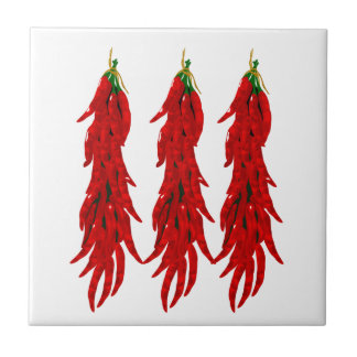 Red Chili Peppers Kitchen Tile