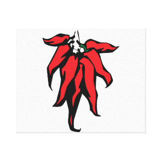 Red Chili Peppers On a String Graphic Canvas Prints
