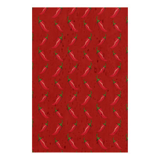 Red chili peppers pattern cork fabric