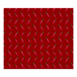 Red chili peppers pattern print