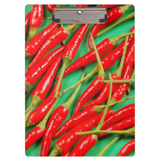 Red chili peppers print clipboards