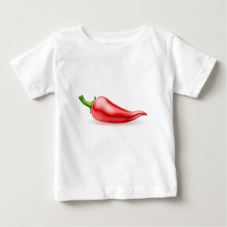 Red Chilli Pepper Illustration Baby T-Shirt