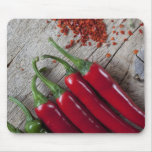 Red Chilli Pepper Mouse Mat