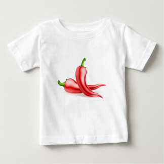 Red Chilli Peppers Illustration Baby T-Shirt