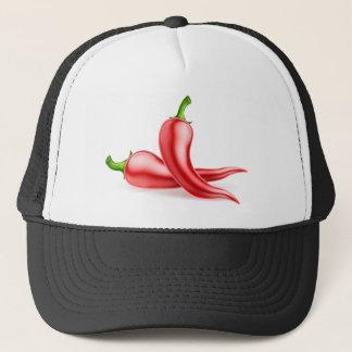 Red Chilli Peppers Illustration Trucker Hat