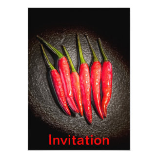 Red Chilli Peppers Invitation