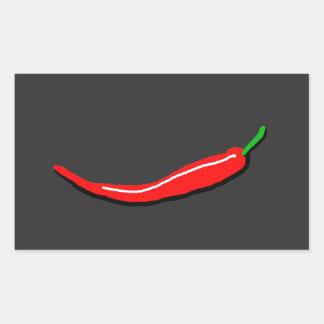 Red Chilli Rectangular Sticker
