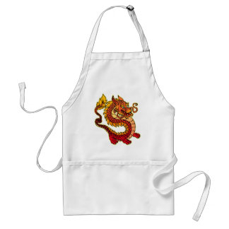 Red Chinese Dragon BBQ Apron