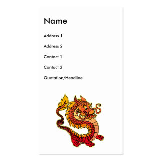 Red Chinese Dragon Business Cards