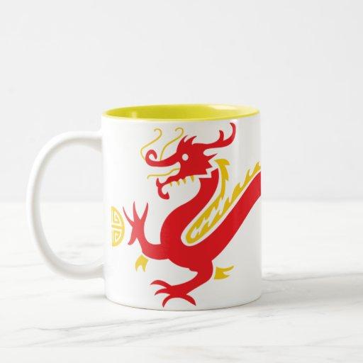 Red Chinese Dragon Cup Coffee Mug