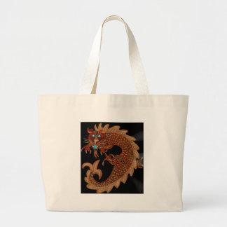 Red Chinese Dragon Jumbo Tote Bag