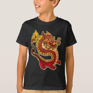 Red Chinese Dragon Kids Dark T-Shirt