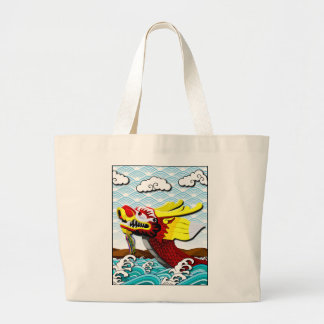 Red Chinese Dragon - Large Tote Bag