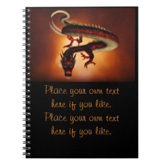 Red Chinese dragon notebook