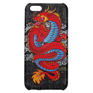 Red Chinese Dragon on Black iPhone 5C Case