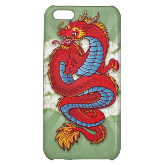 Red Chinese Dragon on Green iPhone 5C Cover