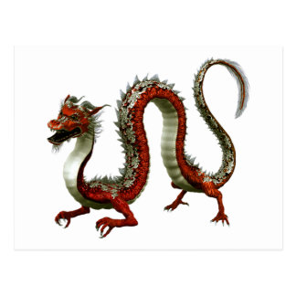 Red Chinese Dragon Postcard