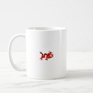 Red Chinese Style Dragon Coffee Mug