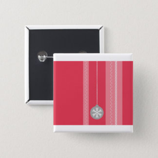 Red Christmas 15 Cm Square Badge