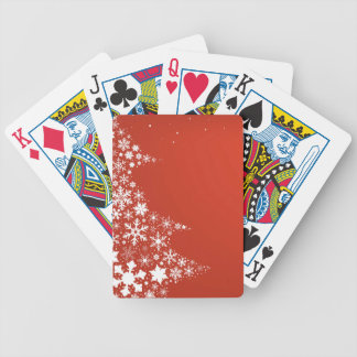 Red Christmas Background Bicycle Playing Cards
