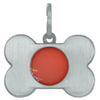 Red Christmas Background Pet ID Tag